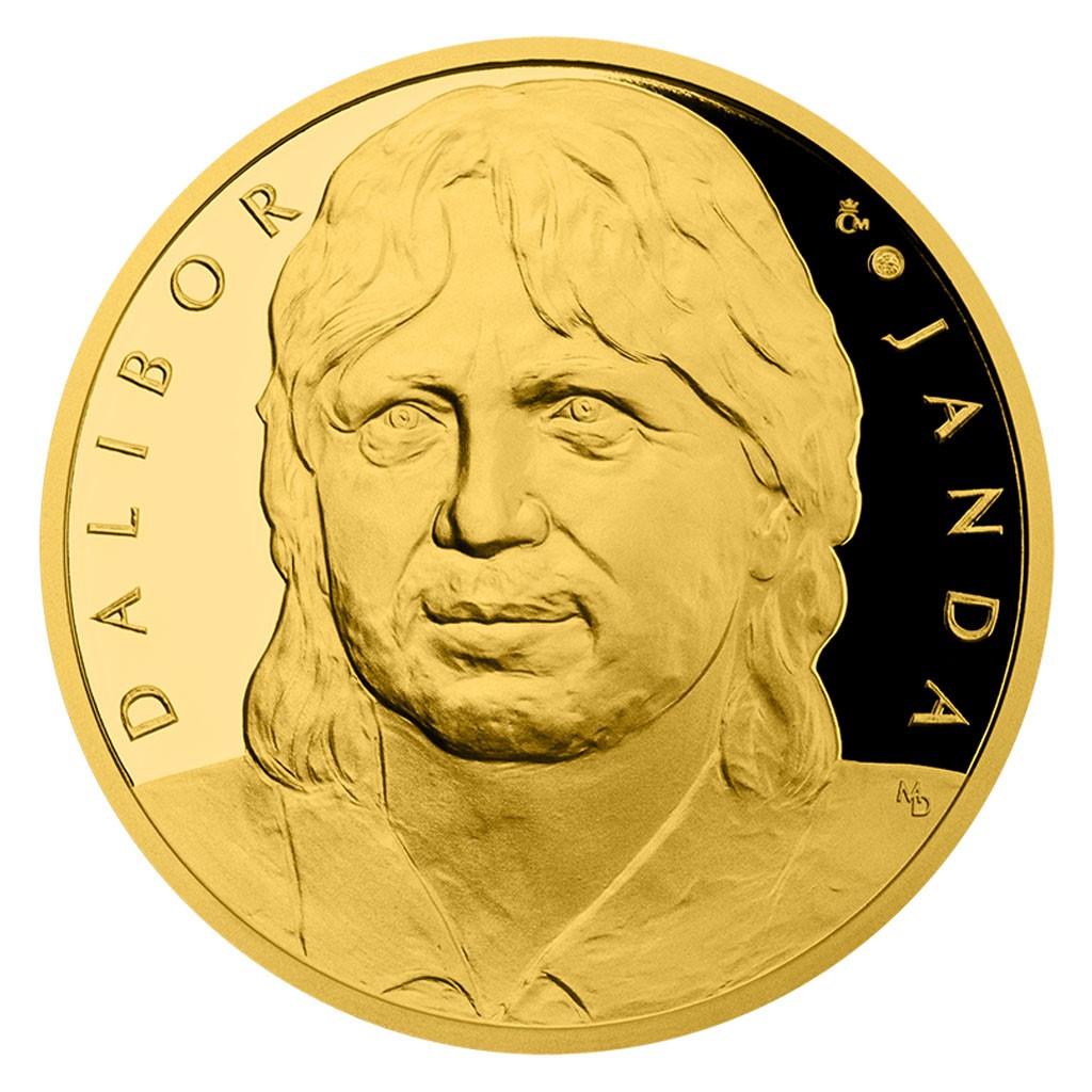 Gold Half Ounce Medal Dalibor Janda Proof Numbered Czech Mint